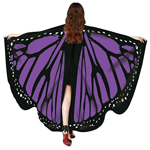 - Christmas Party Costume, Gillberry Women Christmas Butterfly Wings Shawl Fairy Nymph Pixie Costume (Purple)