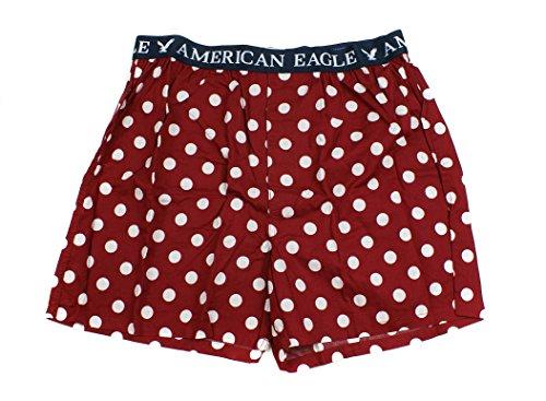 American Eagle Men's Boxer (X-Small, Maroon Big Dot) - Maroon Dot