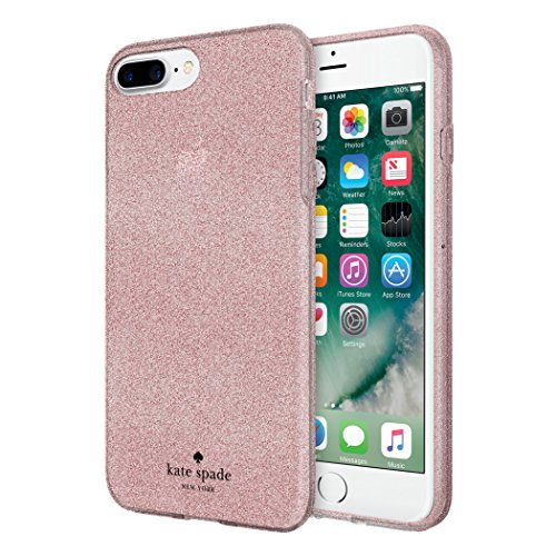 kate spade new york Flexible Glitter Case for iPhone 8 Plus - also compatible with iPhone 7 Plus, iPhone 6+/6s+ - Rose Gold Glitter by Incipio (Image #1)