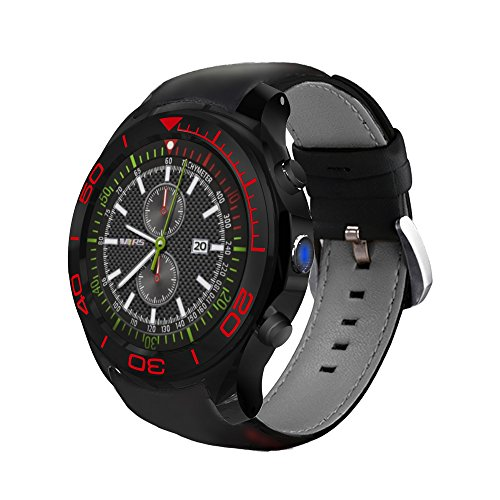 Smart Watch Bluetooth Call GPS MTK 6580 Dual Core 1.3Ghz Heart Rate SOS Camera T Card Supports 32G ()