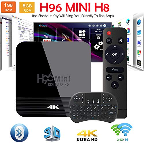 Android TV Box Smart TV Box 9.0 OS BT H96 Mini H8 6K RK3228A 1G 8G Support 2.4G-5G Dual-Band Wi-Fi USB 3.0 H.265 Media…