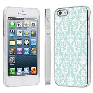 Apple iPhone 5 Hard Plastic Cover Case - Teal Retro By SkinGuardz