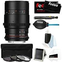 Rokinon Cine DS 100mm T3.1 Macro Cine Lens (Canon EF Mount) + Accessories