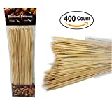 Pro Image Lines 12 inch Bamboo skewers (400 count) BBQ, Skewer, Shish Kabobs, Appetizers