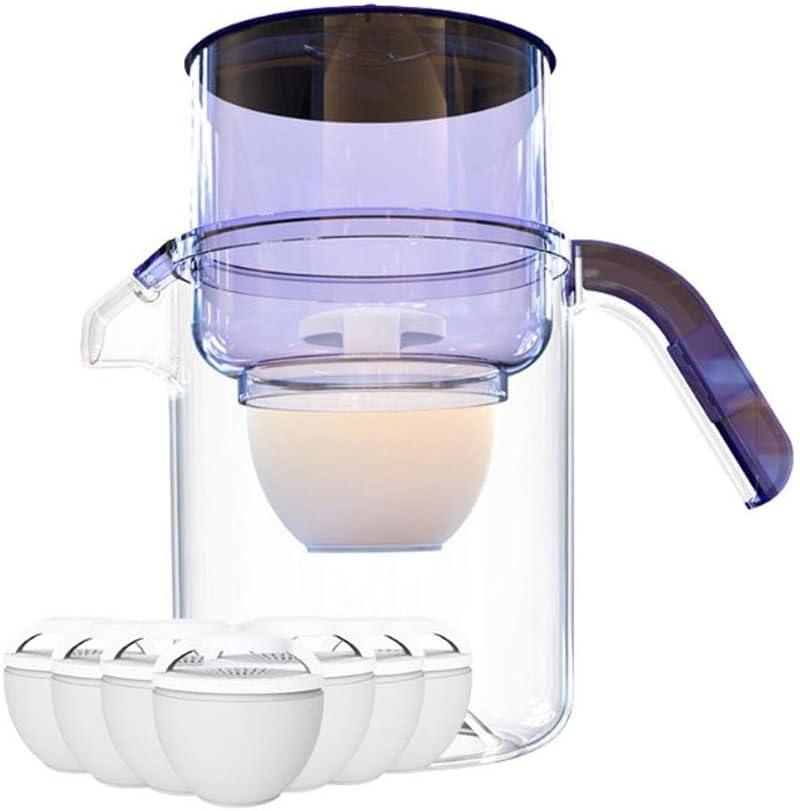 キッチン3.5Lは7つのフィルター、紫と石灰スケールと塩素、コンパクト水差し、BPAフリー、うちの削減、カーボン水フィルター水差し、表水フィルターを活性化
