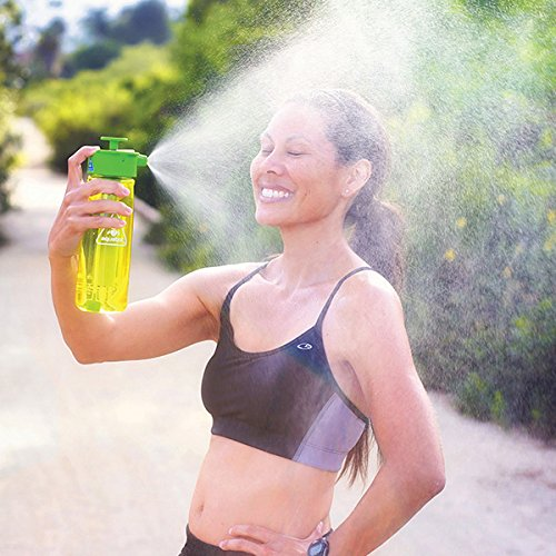 Camp Shower and Hydration all in a Drinking water bottle.