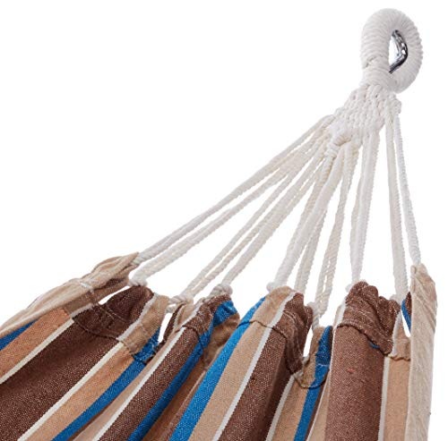 Amazon.com: Bliss estilo brasileño Hamaca en una bolsa, Azul ...