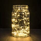 Wine Bottle Lights Battery Powered, Naladoo 1M String Fairy Light 10 LED Battery Operated Xmas Lights Party Wedding Lamp Copper Wire Fairy Lights for Bottle DIY, Party, Decor, Christmas, Wedding (Warm White)