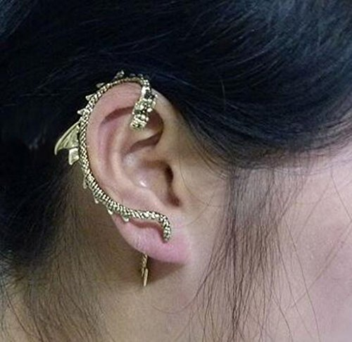 Gothic Punk Dragon Snake Ear Cuff Clip Animal - Ear Cuffs Snake
