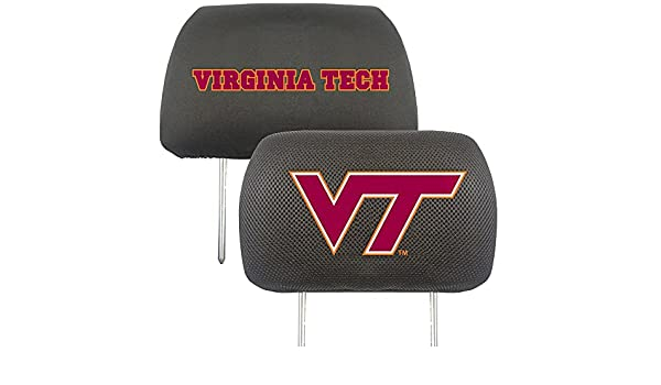 FANMATS NCAA Virginia Tech Hokies Polyester Head Rest Cover 12602