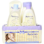 Aveeno Bathtime Solutions 4-Piece Gift Set - ivory/purple, one size