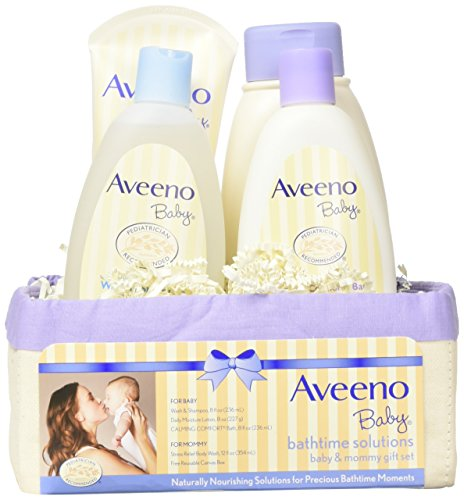 Aveeno Bathtime Solutions 4-Piece Gift Set - ivory/purple, one (Maternity Skin Care Solutions)