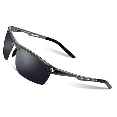 Duco Lunettes de soleil polarisées incassables UV400 Lunettes de soleil  Hommes pour sports de plein air 24985bb4c897