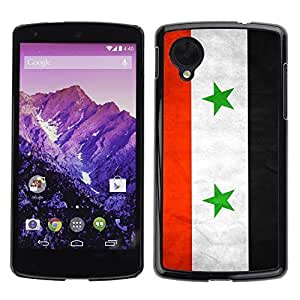 Shell-Star ( National Flag Series-Syria ) Snap On Hard Protective Case For LG Google NEXUS 5 / E980