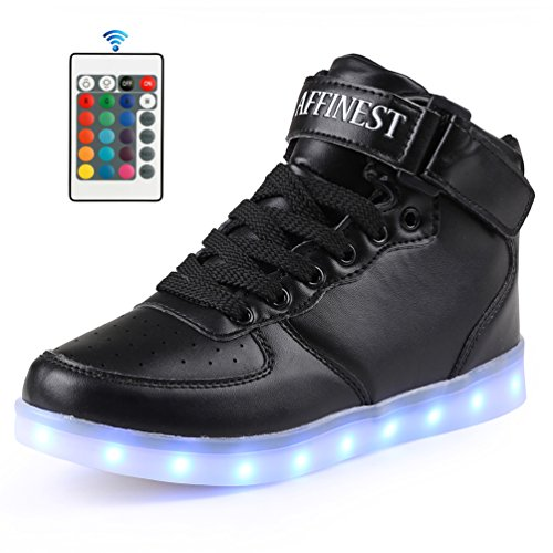 AFFINEST LED Light up Shoes Boys Girls High Top Fashion Flashing Sneakers Control App