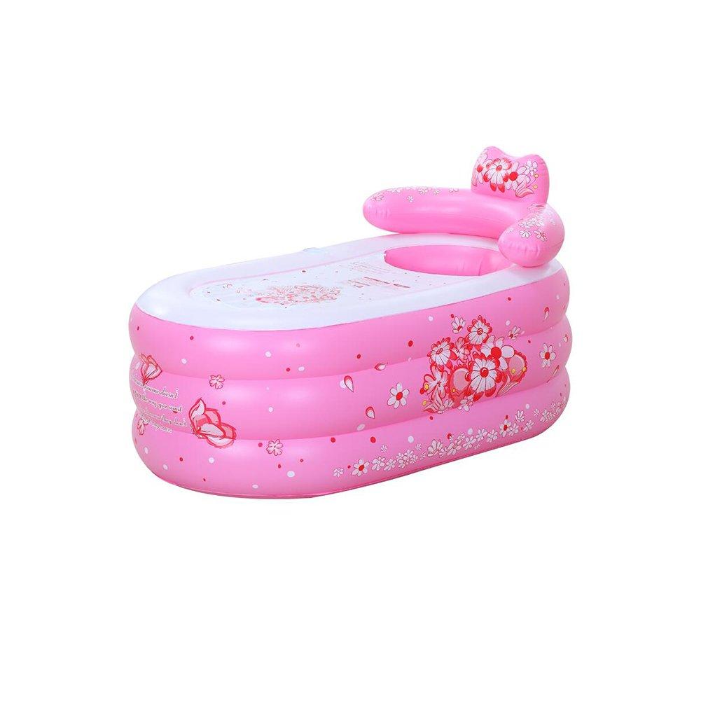 DALL プール 折り畳みが簡単 インフレータブルプール インフレータブルバスタブ お風呂に入る バレル バス 燻蒸 子供用プール (色 : ピンク ぴんく, サイズ さいず : 160*90*75cm) 160*90*75cm ピンク ぴんく B07DQFFGWT
