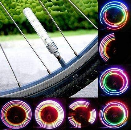 Durable Bicycle Safety Tire Tyre Led Spoke Bat Light Wheel Valve Lighting Night