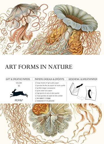 Art Forms in Nature: Gift & Creative Paper Book Vol. 83 (English, Spanish, French and German Edition)
