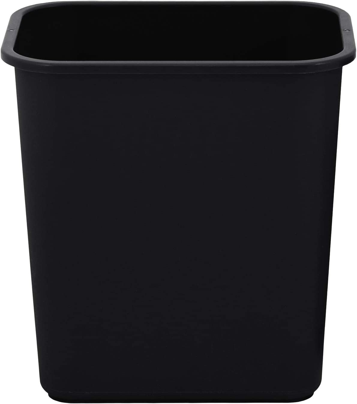 United Solutions 7 Gallon/28 Quart Space-Efficient Trash Wastebasket | Pack of 12 | Fits Under Desk | Small, Narrow Spaces in Commercial Office, Kitchen, Home Office, Dorm | Easy to Clean | Black