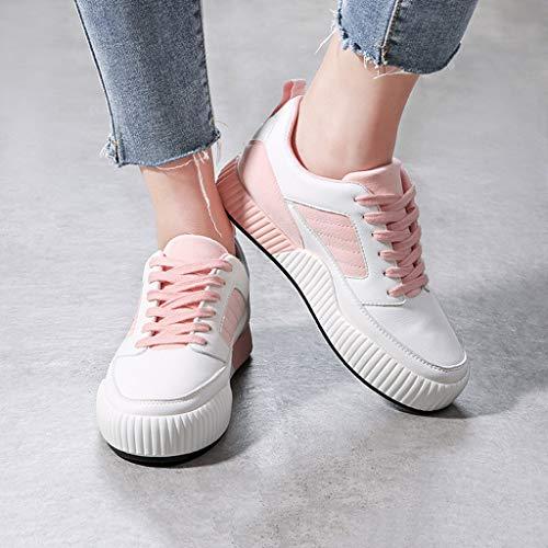 Sweet Sneakers Flats Scarpe Pink 40 Casual Up Gray colore Dimensioni Spesso Lace Fashion Fondo Skateboard Da Con Donna HAxIrfqAw