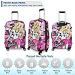 Humty Dumty Barbie Star Pink Colour Polycarbonate 18 Inch / 45.7 cm Kids Hard Luggage Trolley Bag | Travel Bag