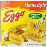 Eggo Waffles (Homestyle, 24-Count, 29.6-Ounce)