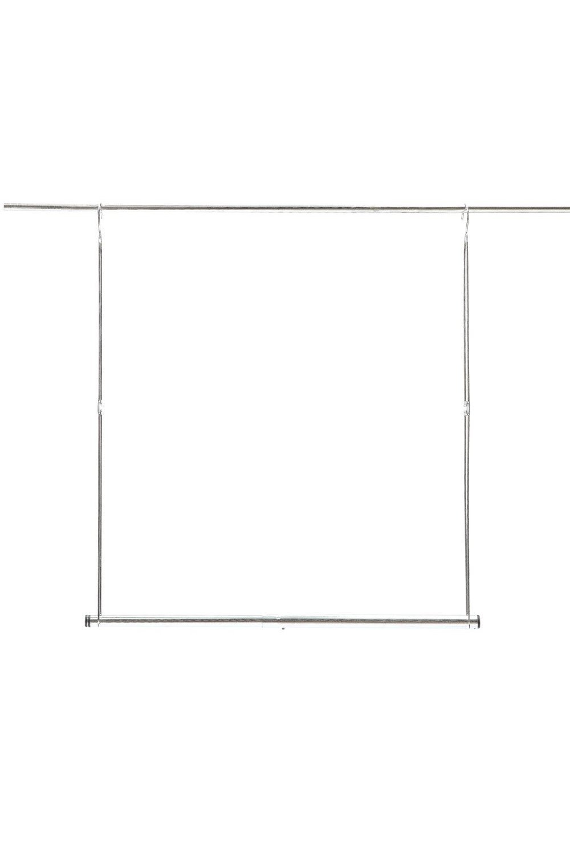 STORAGE MANIAC 2-Pack Adjustable Hanging Closet Rod, Double Hanging Closet Rod Organizer with Adjustable Horizontal Rod, Chrome by STORAGE MANIAC (Image #9)