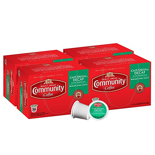 Cheap Community Coffee 144 Ct Single Serve Pods. Compatible with Keurig K-Cup brewers (Cafe Special Decaf)