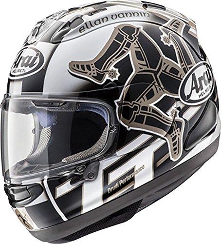 (Arai Corsair X Helmet - Isle Of Man 2017 (LARGE) (BLACK/WHITE))