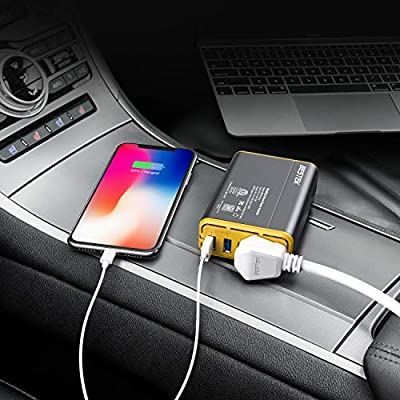 BESTEK 150W Car Power Inverter DC 12V to 110V AC Car Converter 4.2A Dual USB Car Adapter, Thinner Design with ETL Listed: Car Electronics