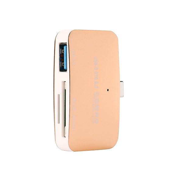 eed8f2e8969 Amazon.com  Alimao 3 In1 OTG SD TF Type Mini Card USB Reader HUB ...