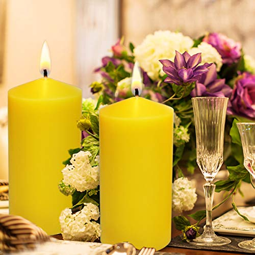2 Citronella Scented Pillar Candle 6 Inch Tall X 3 Inch Wide ()