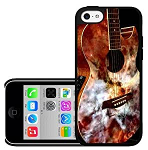 Acoustic Guitar with Marble Face Hard Snap on Phone Case (iPhone 5c)