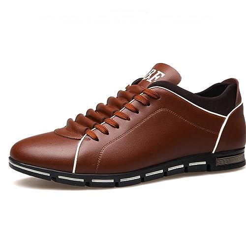 Mocasines de los Hombres de Moda cómodos de bajo Plano Top de Encaje Zapatos Casuales: Amazon.es: Zapatos y complementos