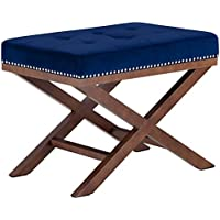 Modway EEI-2571-NAV Facet Wood Bench, Navy