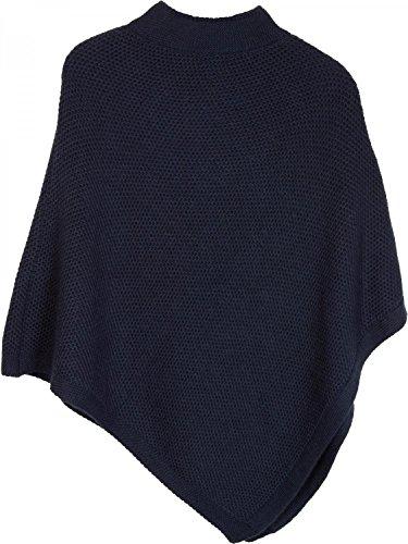 styleBREAKER - Poncho - capa - Básico - para mujer Midnight-Blue / Dunkelblau