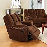 ACME Furniture 59092 Oliver Glider Recliner, Chocolate Corduroy