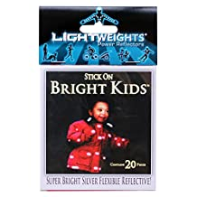 Lightweights Bright Kids Power Reflectors for Clothing, 20-Piece