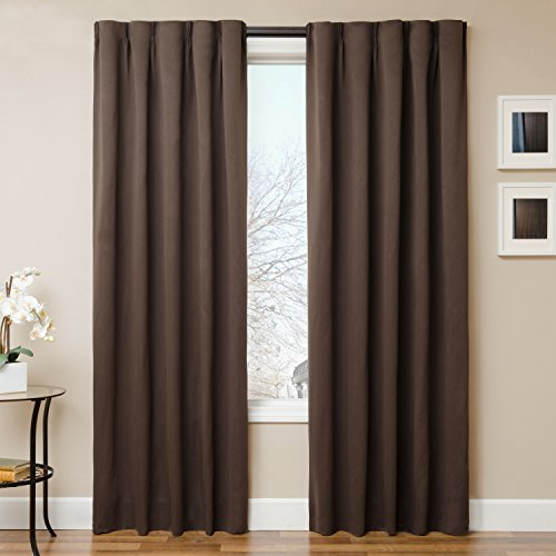 The Simple Drape, Set of 2 Easy To Hang Total Black Out Wind