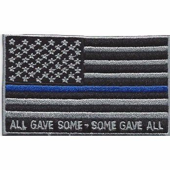 Amazon.com  All Gave Some-Some Gave All Thin Blue Line Flag Patch ... d39dc71678e