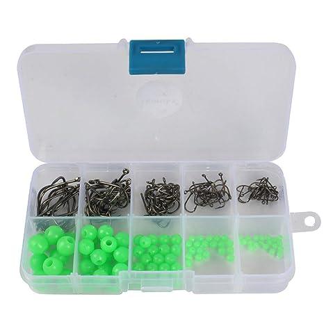 Isuper Deporte Cuentas de Pesca 180pcs / BoxBox Suaves Alrededor de Granos Luminosos de plástico señuelos