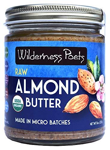 Wilderness Poets, Almond Butter - Organic Raw Nut Butter (8 Ounce - Half Pound)