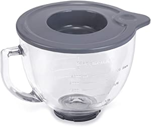 Tight-Sealing Lid for KitchenAid K5GB 5-Qt 5-Quart Tilt-Head Glass Bowl Glass Mixing Bowl to Mixing Ingredients Butter Potatoes (Mixer Bowl not Included) …