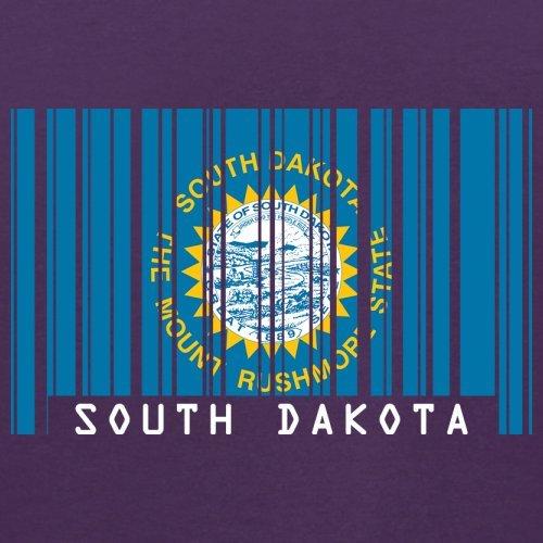 South Dakota / Süd-Dakota Barcode Flagge - Herren T-Shirt - Lila - S