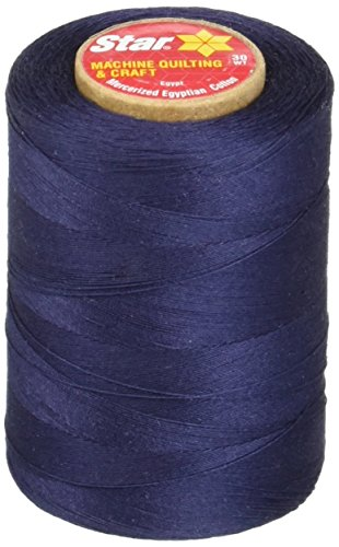 (Star Mercerized Cotton Thread Solids 1200 Yards-Navy)