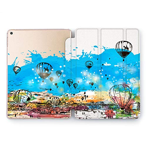 Wonder Wild Around The World iPad Pro Case 9.7 11 inch Mini 1 2 3 4 Air 2 10.5 12.9 2018 2017 Design 5th 6th Gen Clear Smart Hard Cover Traveling Balloon Horse Rider Multicolored Adventure Flying]()