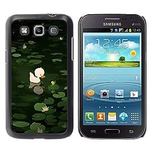 Paccase / SLIM PC / Aliminium Casa Carcasa Funda Case Cover para - Sweet Cute Pond Drawing Green Animal - Samsung Galaxy Win I8550 I8552 Grand Quattro