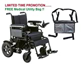 Drive Cirrus Plus EC Folding Power Wheelchair, 18'' Seat & FREE Medical Utility Bag Gray! - #CPN18FBA
