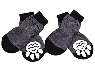 EXPAWLORER Anti-Slip Dog Socks Traction Control for Indoor Wear, Paw Protection by HAOBO