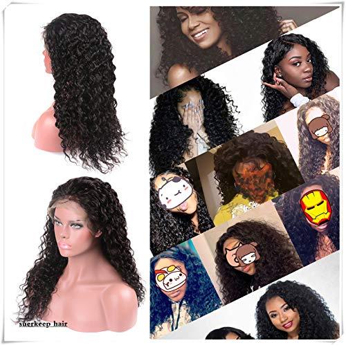 Suerkeep Glueless Deep Wave Lace Front Wigs 150%